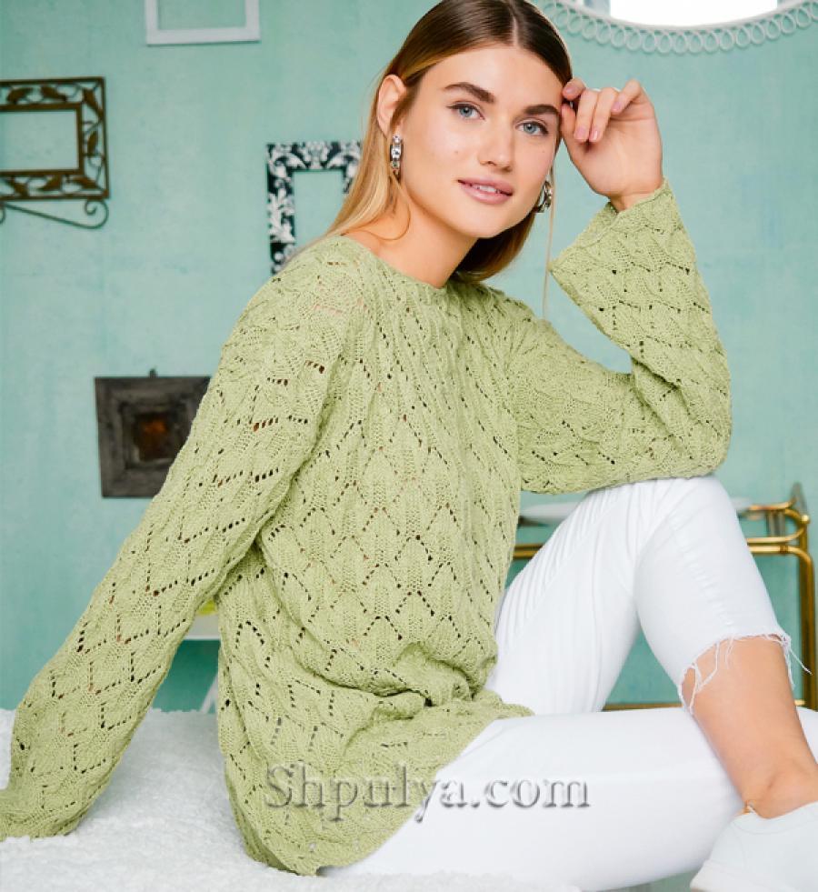 пуловер, схема, вязание спицами