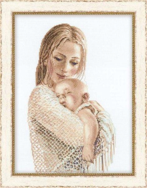 Вышивка крестом мать с младенцем