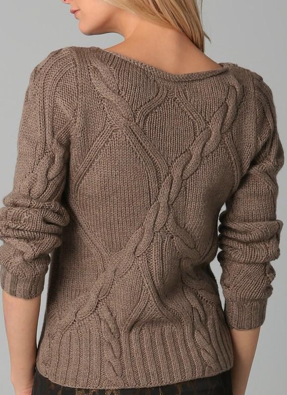Вязание женских свитеров спицами 89
