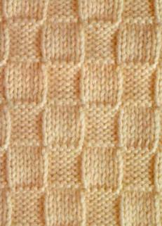 Схема вязания узора квадрат спицами