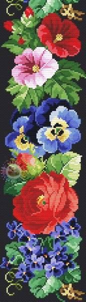 Цветочная вышивка крестом