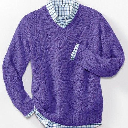 пуловер, вязание спицами, схема