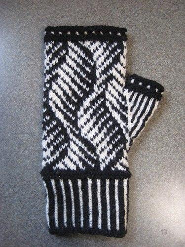 варежки, вязание спицами, схема