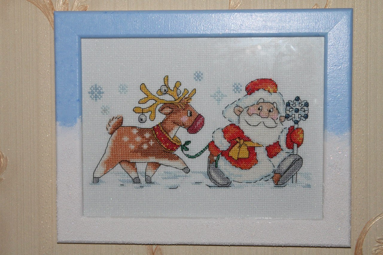 """Вышивка """"Санта Клаус"""""""