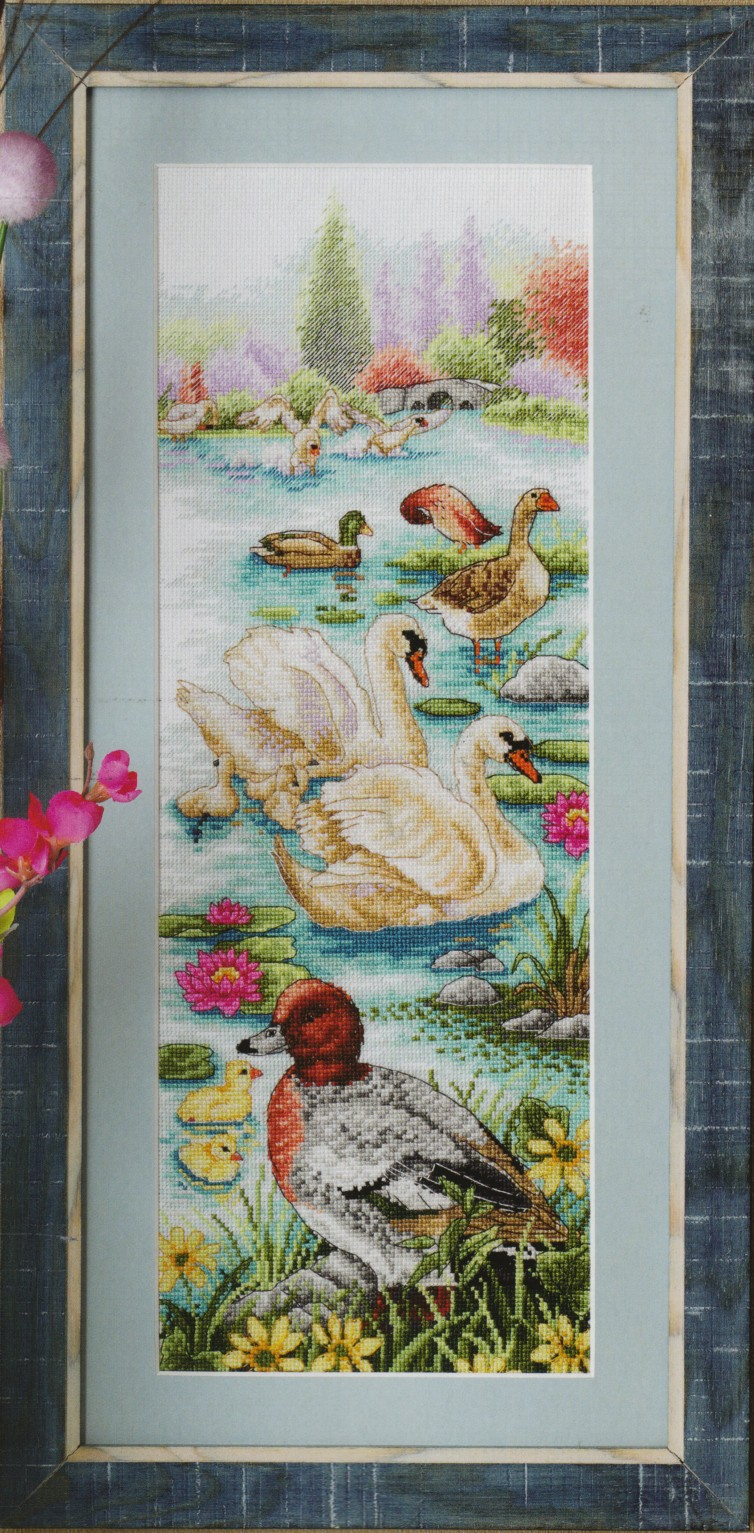 Вышивка гуси лебеди