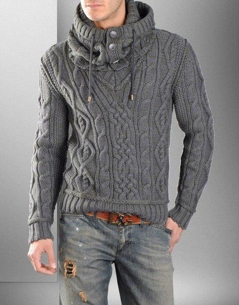 Мужской пуловер со снудом от Dolce&Gabana