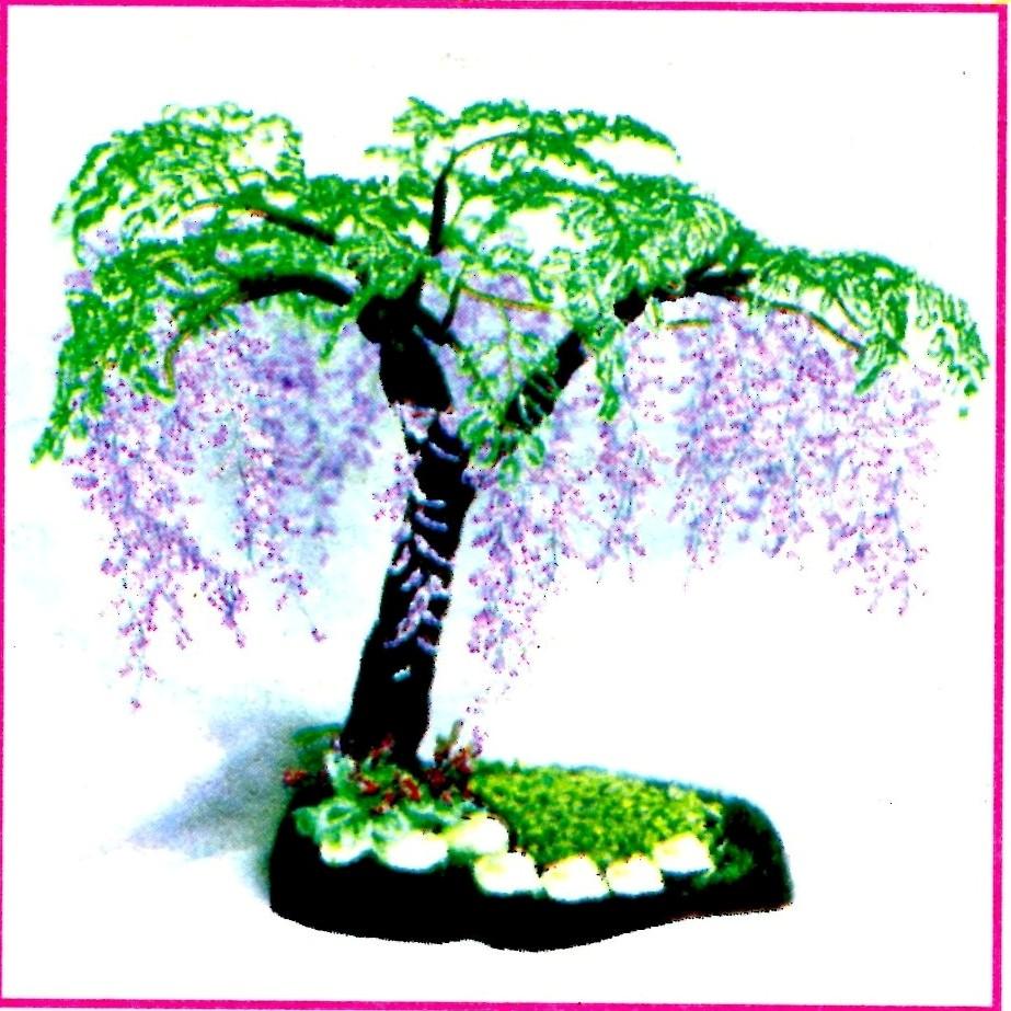 ГЛИЦИНИЯ КИТАЙСКАЯ, дерево из бисера, Laboratory household.