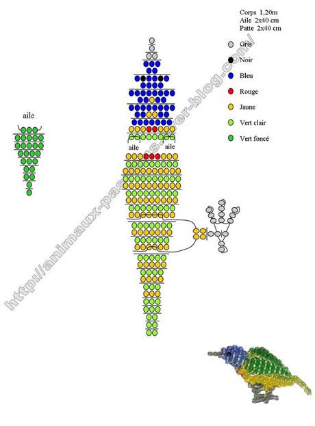 Как сделать из бисера попугаев