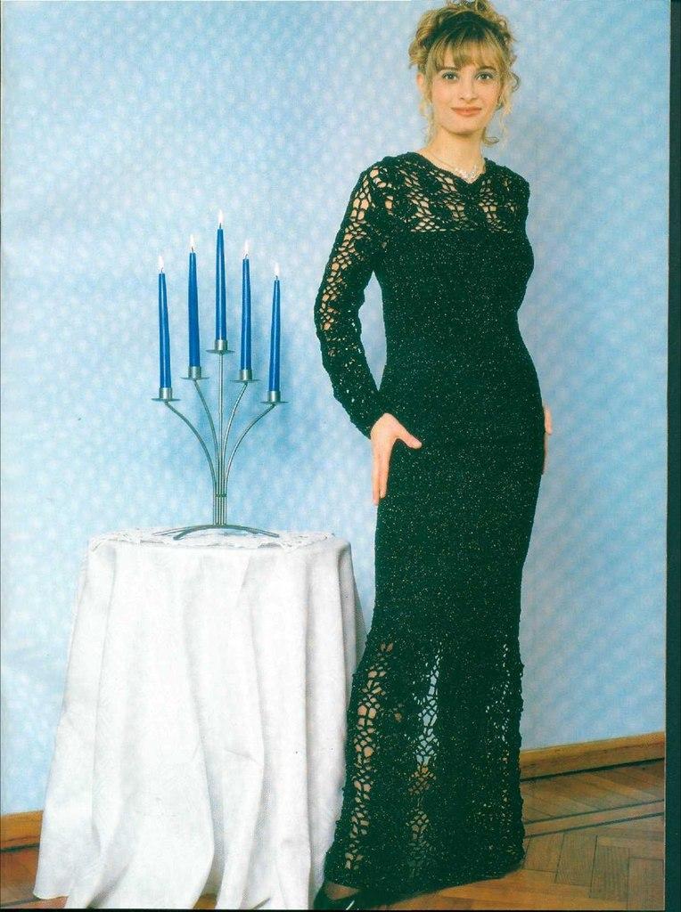 Схема вечерние платья крючком