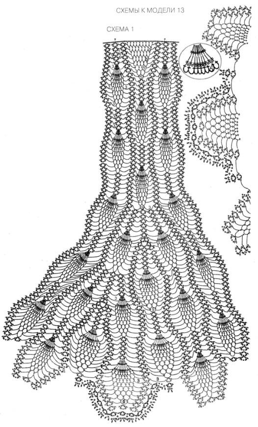 Вязание крючком юбок схемой ананас 9