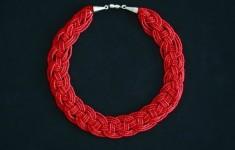Как сделать колье из бисера how to make a necklace of beads.