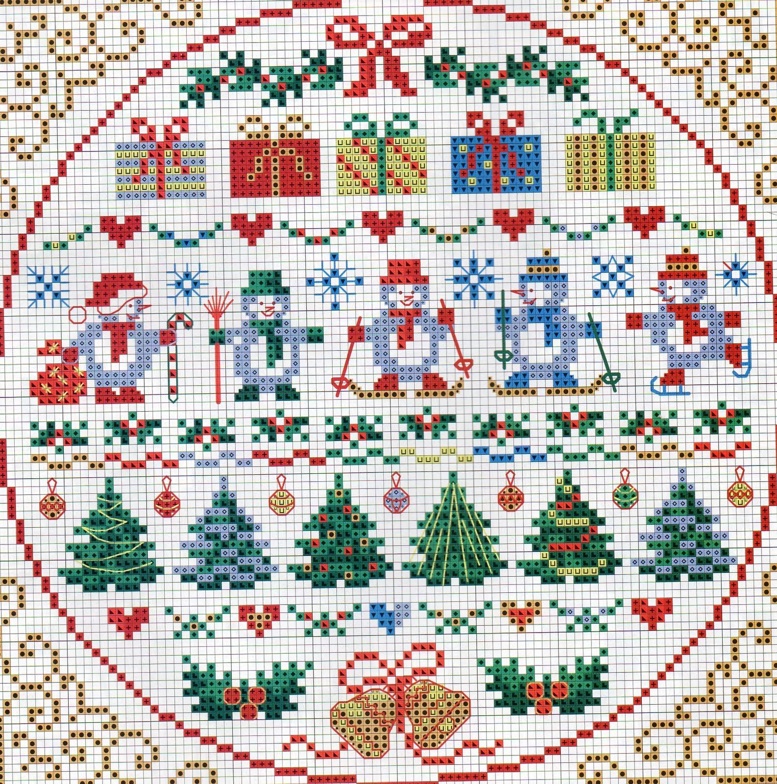 Вышивка крестом рождество миниатюры схемы