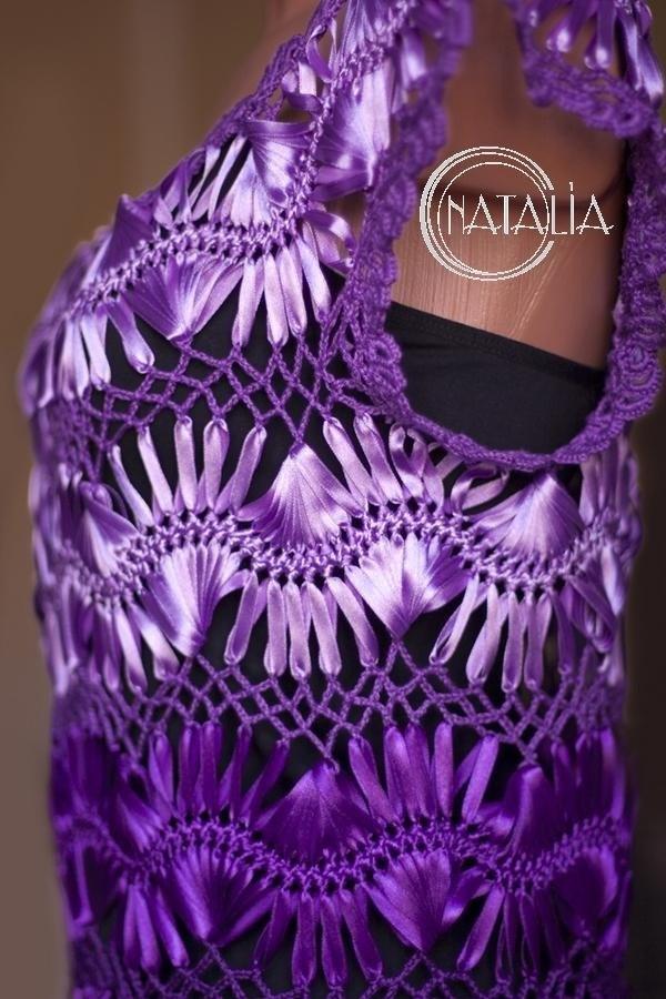 вышивание, вышивание лентами, платье, платье лентами, схемы, схемы для вышивания, сирень, красивое платье, платье своими руками, рукоделие