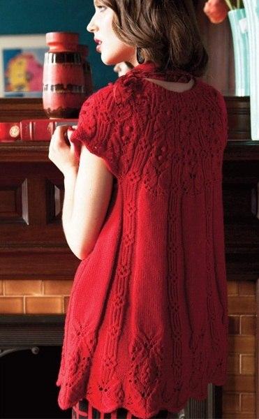 Вязание в красном спицами 312
