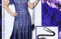 вечернее платье вязаное крючком схема
