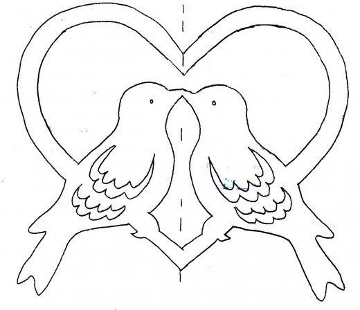 Шаблоны открыток на день святого валентина 20