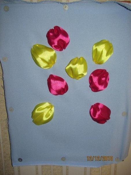 Как сделать тюльпан из ленты