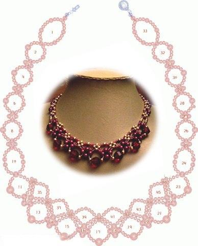 2 Views Today. бисер. схема. pattern. колье. beads.  2083. Бисероплетение.