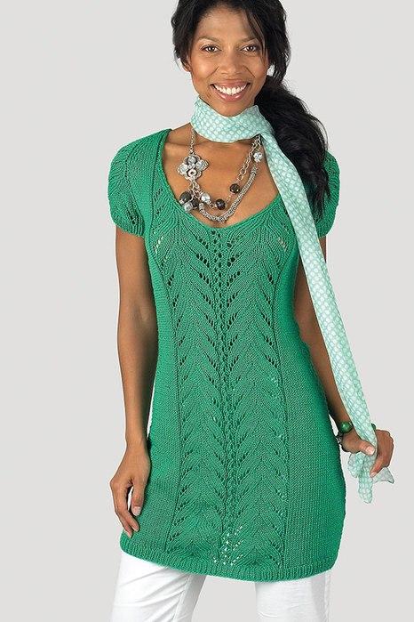 вязание туники спицами платье туника спицами схема вязание для