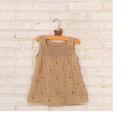 Платье для девочки вязаное на спицах