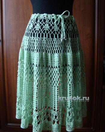 Вязаная крючком юбка по схеме