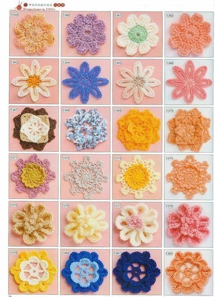 Цветы крючком простые