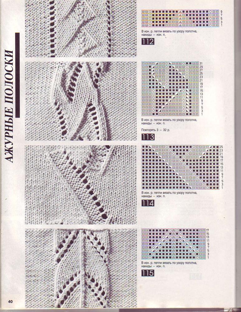 Вязание спицами схемы много