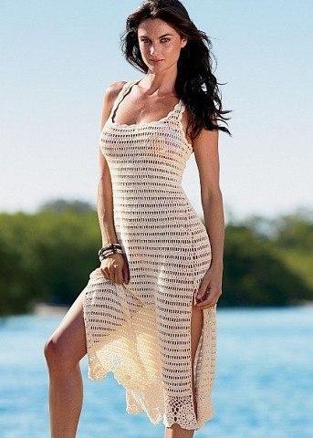 Схема пляжная платье крючком