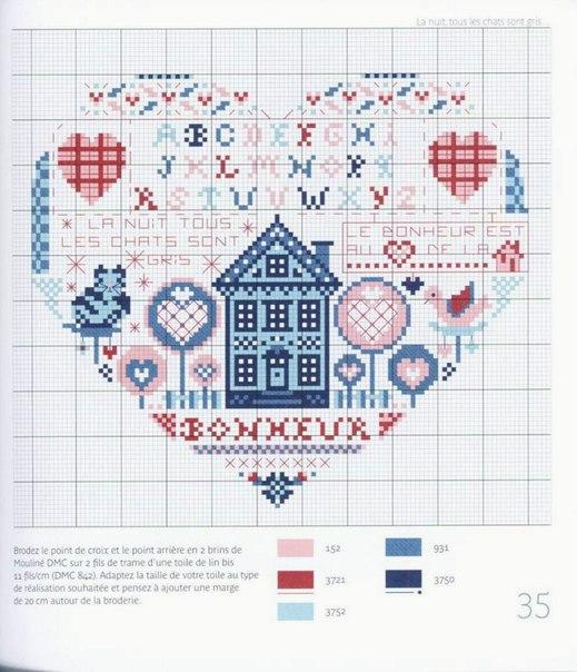 Вышивка крестом дом милый дом схема 37
