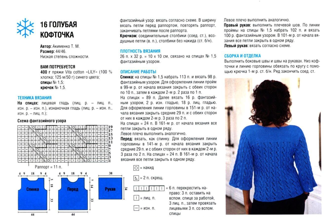 Схемы для вязания спицами женских кофт