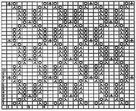 Ажурный узор для вязания спицами из мохера
