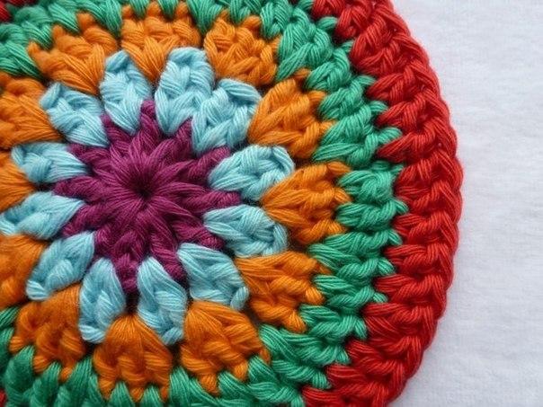 Вязание ковриков крючком для стульев