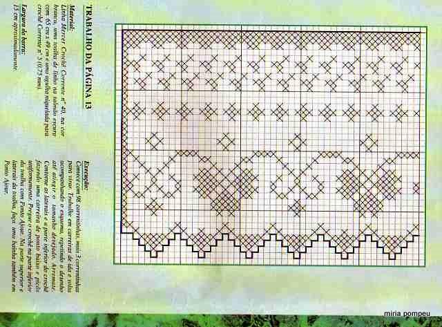Обработка филейного вязания 64