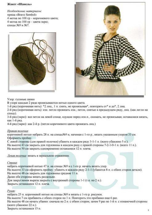Вязание женского жакета спицами с описанием
