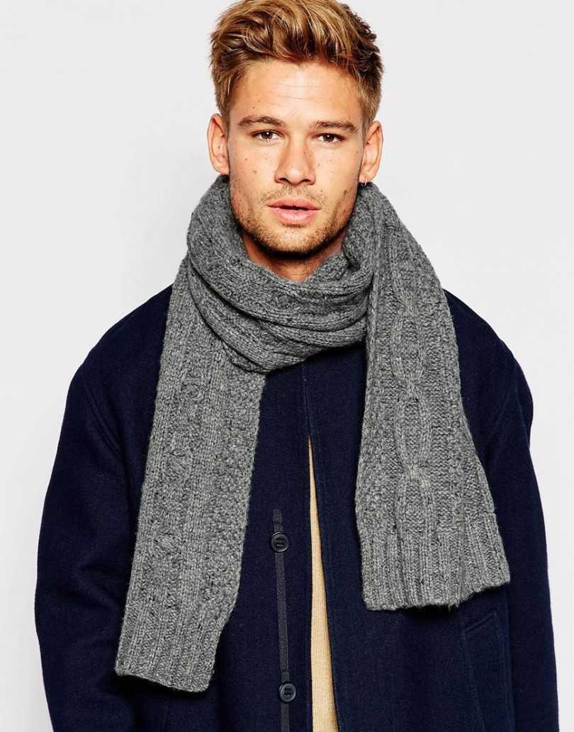 мужской шарф спицами связать мужской шарф спицами вязание для
