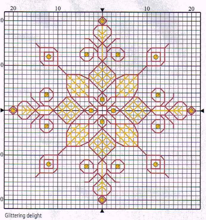Вышивка новогодних шаров схемы 89