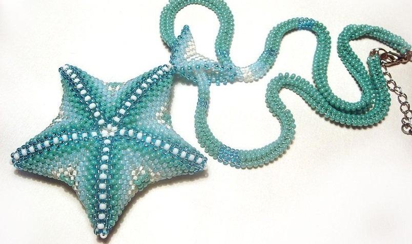 Плетение объемной звезды - Объемная звезда из бисера: мастер-класс и схема плетения