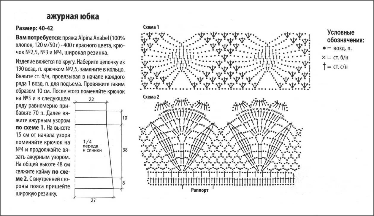 Вязание крючком и схемы